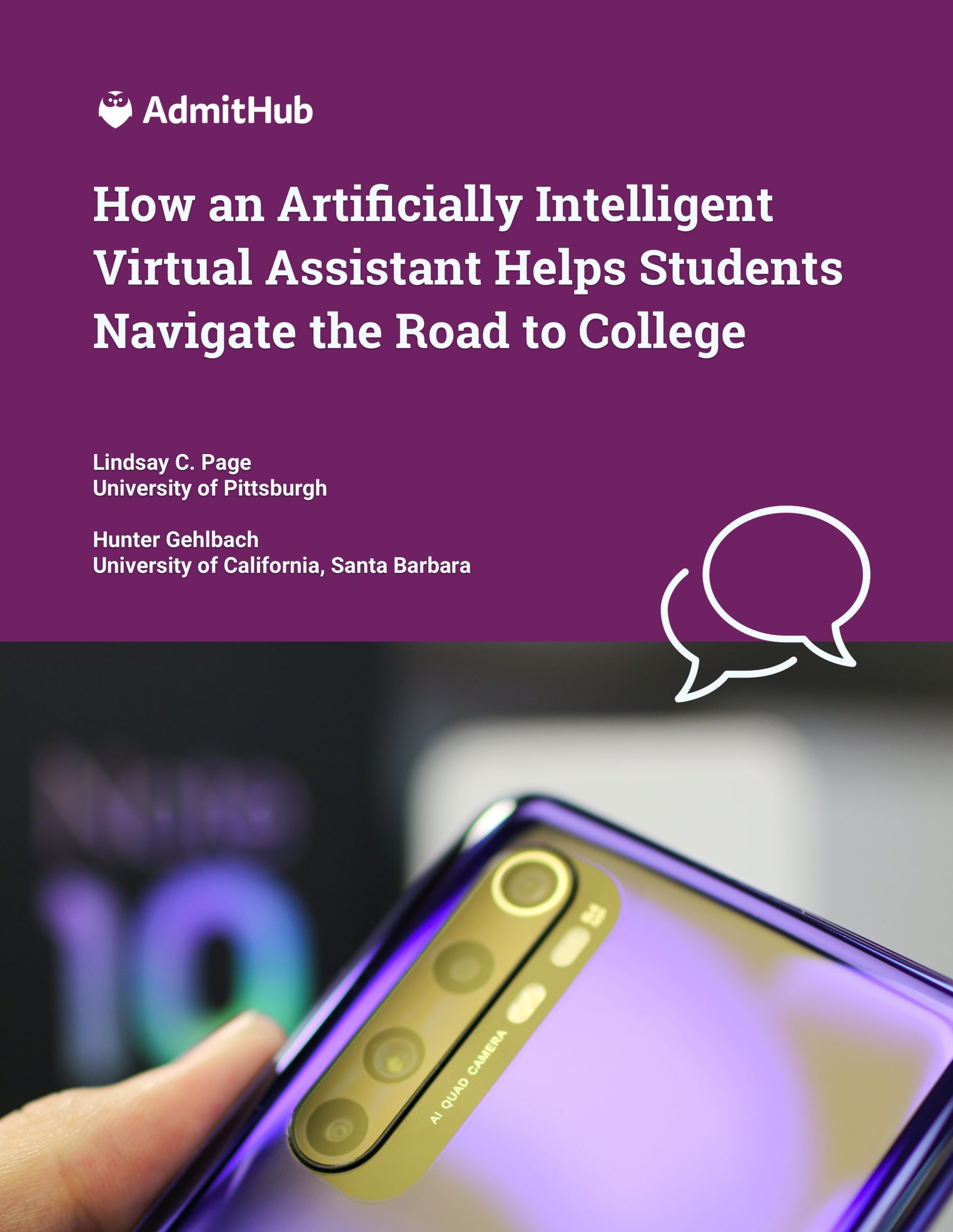 How an Artificially Intelligent Virtual Assistant Helps Students Navigate the Road to College